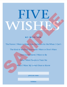 5 Wishes Living Will