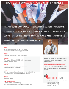 RightCare Event: Inaugural Fundraiser flyer