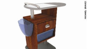 Michael Graves designed this hospital bedside cabinet